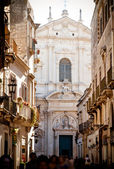 View of Lecce with St Irene — Stock Photo