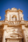 Detail of Lecce's cathedral — Stock Photo