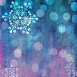 Pink and blue Christmas card — Stock Photo