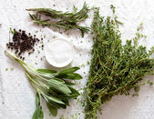 Bunch of herbs for cooking — Stock Photo