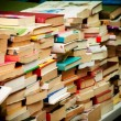 Stacks of second-hand books — Stock Photo