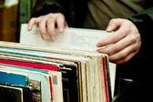 Retro revival: vinyl records — Stock Photo