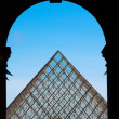 Royalty-Free Stock Photo: The Louvre Pyramid from the Eastern entrance