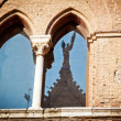 Medieval window in Siena — Stock Photo