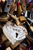 Love, locked — Stock Photo