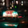 Stock Photo: Taxi Parisien