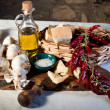 Mediterranean ingredients - Stock Photo