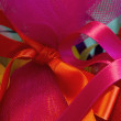 Easter egg with ribbon, detail — Photo