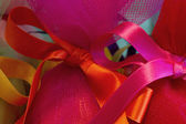 Easter egg with ribbon, detail — Stock Photo
