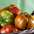 Basket with tomatoes — Stock Photo