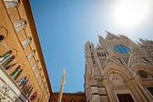 τον καθεδρικό ναό της σιένα και το arcivescovado — Φωτογραφία Αρχείου