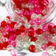 Pink and red beads — Stock Photo #25433187