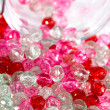Pink and red beads — Stock Photo #25433193