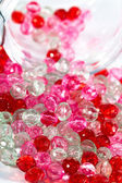 Pink and red beads — Stock Photo