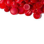Red buttons border — Stock Photo