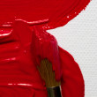 Stock Photo: Red paint
