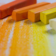 Yellow and orange pastels — Stock Photo