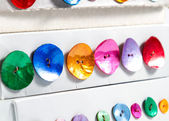 Row of colorful buttons — Stock Photo