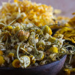 Dried chamomile — Stock Photo