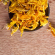 Dried sunflower petals — Stock Photo