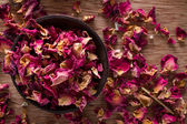 Dried rose petals — Stock Photo