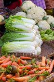 Lettuce at market in Myanmar — Stock Photo