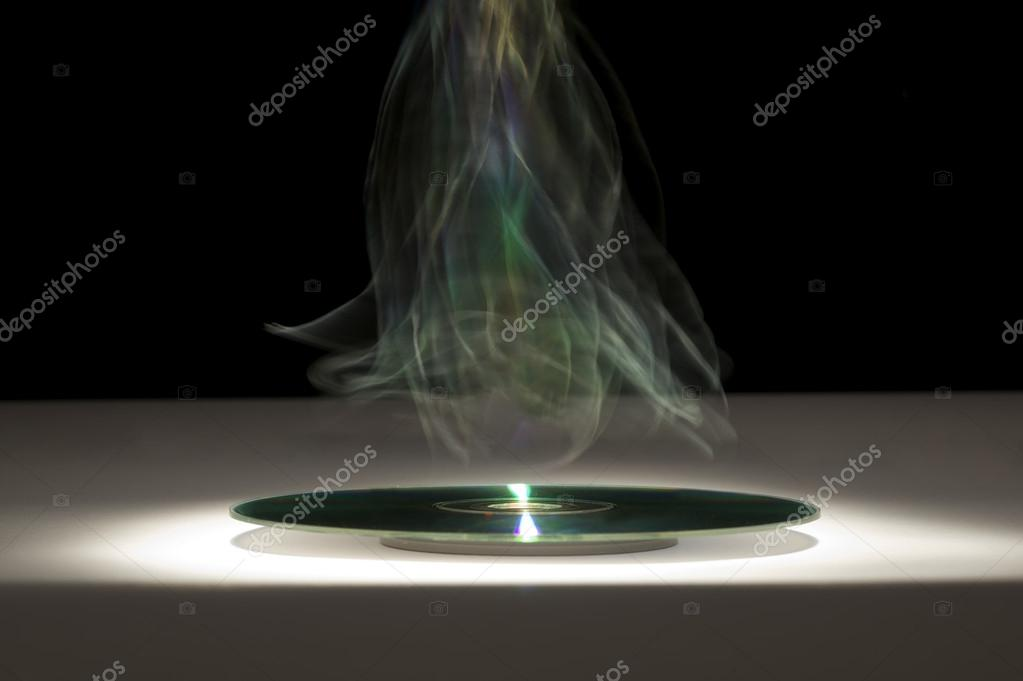 Disk after burning — Stock Photo #13559039