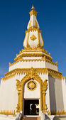 Thai temple, Maha Chedi Chaimongkol at Roi et Province Thailand — Stock Photo