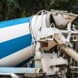 truck with cement mixer — Stock Photo