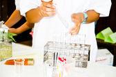 пробирки лабораторная посуда — Стоковое фото