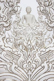 Details of Wat Rong Khun (The White Temple) in Chiang Rai, Thailand — 图库照片