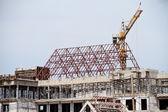 Kraan op de bouwplaats — Stockfoto