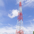 Telecommunication Tower with blue sky — Stock Photo