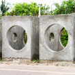 Concrete drainage pipes on construction site — Stock Photo