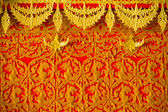 Candle wax carving Thai style texture in the traditional parade active festival Buddhist Lent — Stock Photo