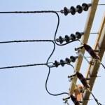 Electric line power — Stock Photo #35634027
