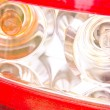 Stock Photo: Rear light patterns reflecting