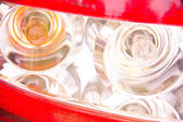 Rear light patterns reflecting — Stock Photo