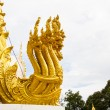 Thai dragon, golden Naga statue in temple — Стоковая фотография