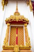 Thajském stylu formovat umění na okně — Stock fotografie