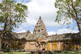 Sand stone castle, phanomrung in Buriram province, Thailand. Religious buildings constructed by the ancient Khmer art. — Stock Photo