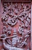 Art of wood carving. Thai style — Foto de Stock