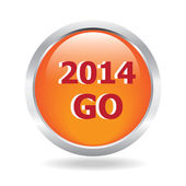 2014 Go glossy button illustration — Stock Vector