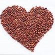 Heart of red beans on a white background — Stock Photo #38371069