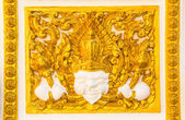 Golden thai stil på väggen — Stockfoto