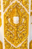 Golden Thai style on the wall — Stock Photo