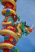 Estátua de dragão de estilo chinês — Fotografia Stock