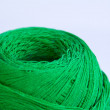 Green ball of woollen red thread isolated on white — Stock Photo #39886253