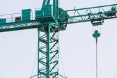 Green crane construction — Stock Photo