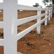White fence — Stock Photo #41245853
